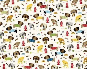 Une promenade dans le parc par Makower 100/% coton patchwork /& quilting tissu-Chiens