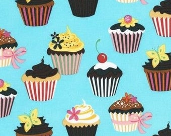 Cupcake fabric, fabric patchwork fabric, turquoise confections coupon Miller