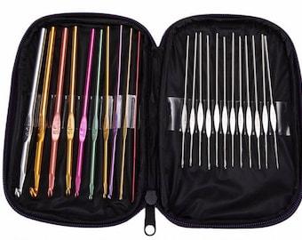 Set of hooks, aluminum hook, hook and its bag, set of 22 hooks
