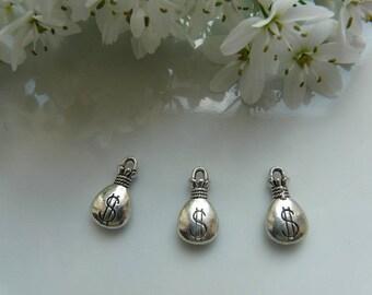 x 2 charm pendant purse d ' Silver