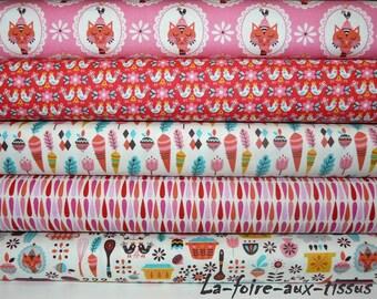 set of 5 Vintage kitchen-Riley Blake 54cmx22cm patchwork fabrics