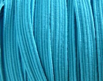 Ribbon 6 mm dark turquoise elastic