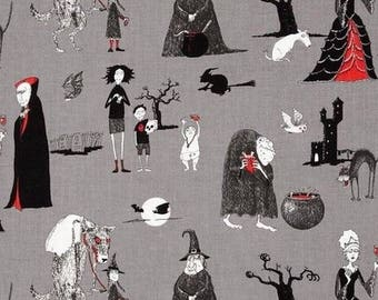Patchwork fabric Odditties gray character Alexander Henry fabric