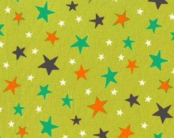 Multicoloured stars fabric, fabric patchwork fabric bot boy Miller green coupon
