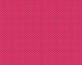 Patchwork santa red polka dot fabric s workshop by Riley Blake
