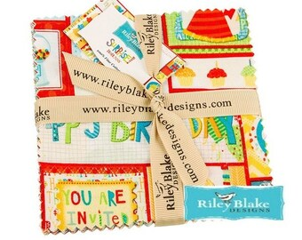Charm pack fabric by Riley Blake Surprise patchwork set