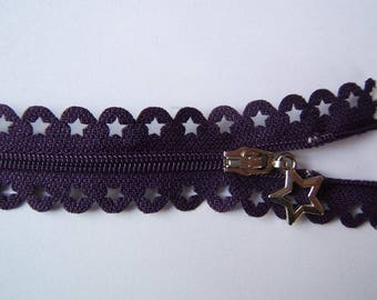 Edward closure lace star 25 cm purple