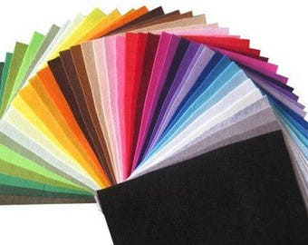 Felts, set of 40 20cmx30cm felts