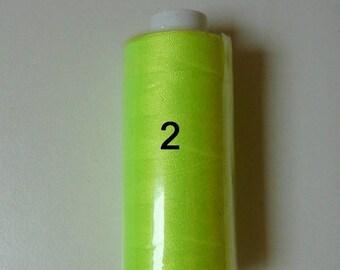 Reel 360 m neon yellow polyester thread