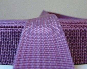 Polypropylene webbing, strap webbing 25 mm purple with the coupon