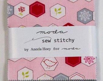 Charm pack Moda lot stichy sew patchwork fabric