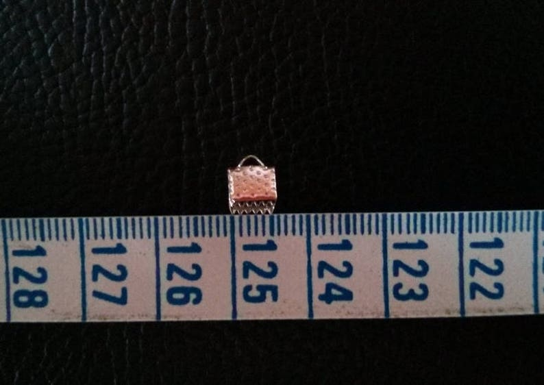 width 6 mm dark silver tone tips 100 clasps claw
