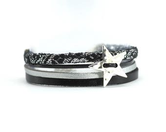 DIY - Kit for the creation of a Bracelet Multi-rangs - Version Black and Silver
