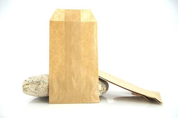10 pochettes cadeau papier kraft marron sachets 60gr 7x13 etsy. Black Bedroom Furniture Sets. Home Design Ideas