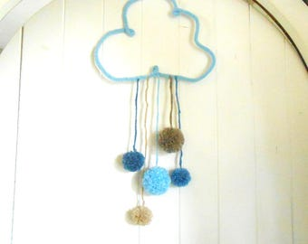 Mobile hanging cloud decoration nursery