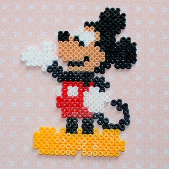 Deko Perlen Hama Mickey Walt Disney Etsy