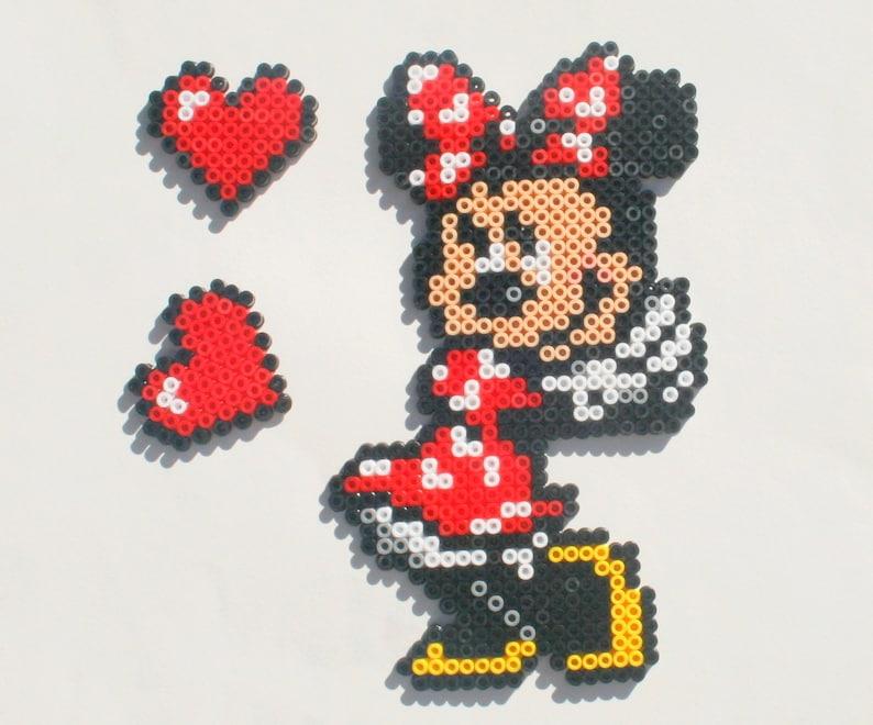 Dekoration Minnie Walt Disney In Hama Perlen Etsy