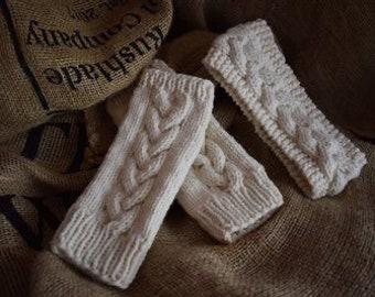 Knitting Pattern - Wrist Warmer and Headband Set. For Aran Wool Yarn