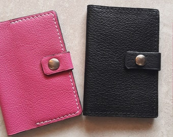 leather card case , card holder , gift woman or man