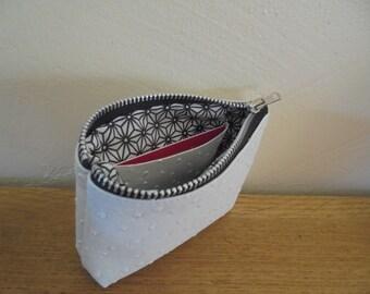women wallet, faux leather ostrich, woman purse, wallet
