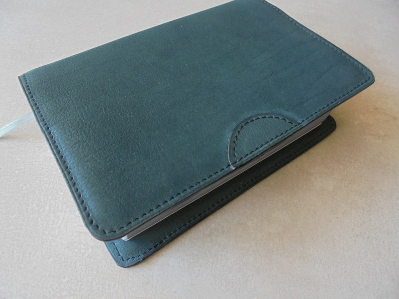 JW dark green leather bible cover, revised JW bible cover