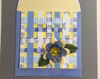 Note Card - Paper Weaving