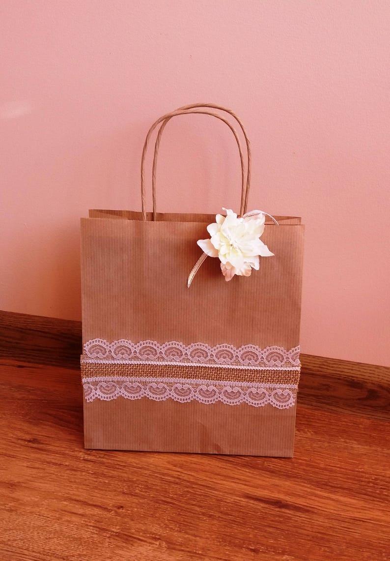image 0 & 5 brown gift bags kraft paper gift bag set paper gift bags for   Etsy