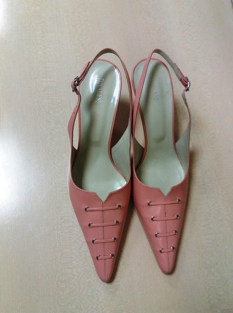 880f1bc84d89 Pink leather shoes vintage womens shoe summer pink shoe EU 41