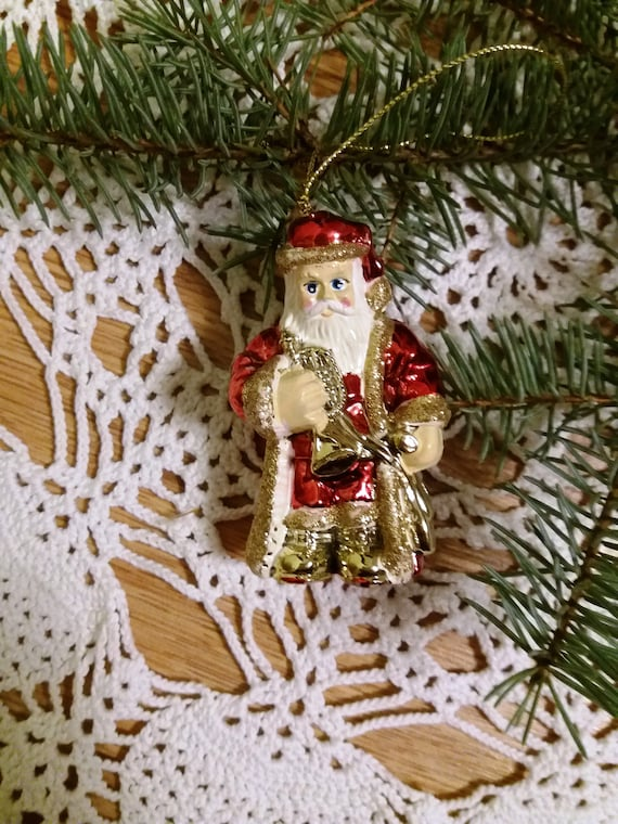 Old Christmas Decorations.1960s Christmas Decoration Vintage Christmas Decorations Old Christmas Ornaments Russia Ornaments Mercury Glass Ornaments Santa Claus Soviet