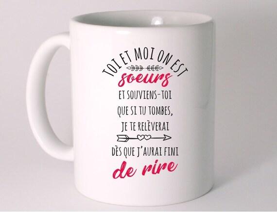 Mug Ceramique Humour Cadeau Sœur Mug Pour Soeur Mug Humour Céramique Blanc