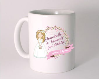 BRIDESMAID GIFT CERAMIC MUG