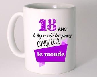 MUG ceramic special birthday personalized 18