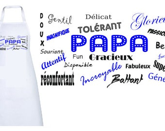 """""""WORDS TO DADDY"""" ADULT APRON"""