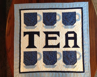 TEA quilted wallhanging