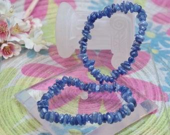 Natural kyanite gemstone bracelet