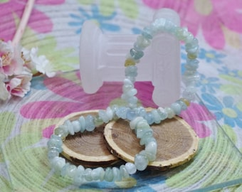 Natural aquamarine gemstone bracelet