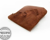 Raw Edge Leather Rustic Pouch, Free custom design with free personalization