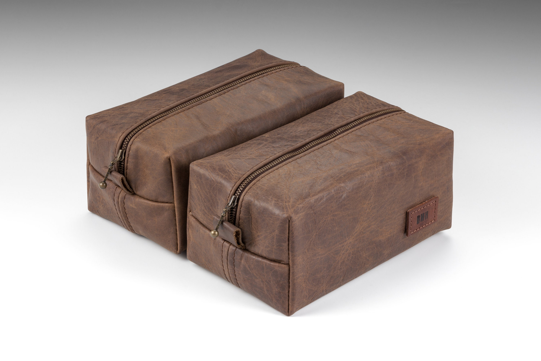 4f48de736c75 Set of 6 Handcraft Dopp kits Aged Leather Toiletry kit