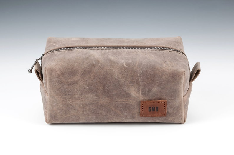 34824af6af Real Leather Toiletry bag with Personalization Handmade Large