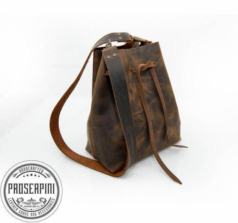 a8aeaf6f78 Bucket bag Vintage brown Shoulder bag Women shoulder bag