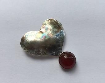 Sterling silver Oxidised Heart Pendant