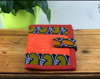 orange velvet and African wallet
