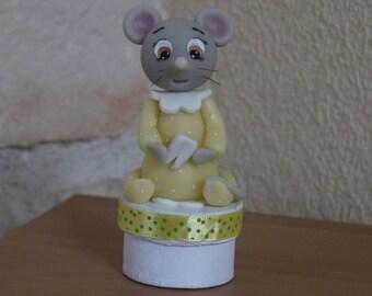 Boite à dents petite souris jaune
