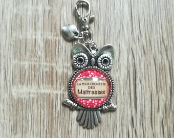 """The OWL to mistresses"" bag charm Keyring"