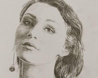 100 Faces Original Sketch