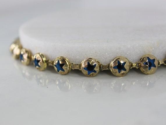 Star Evil Eye Bracelet | 10k Yellow Gold