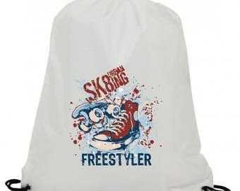 Personalised  sk8urbaning freestyler sublimation swimming pe gym school drawstring bag