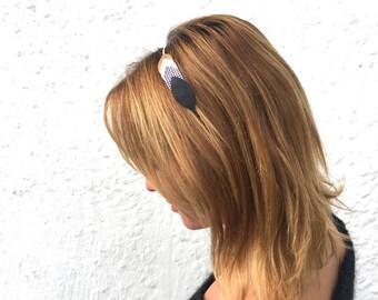 Head band leather headband, hair headband