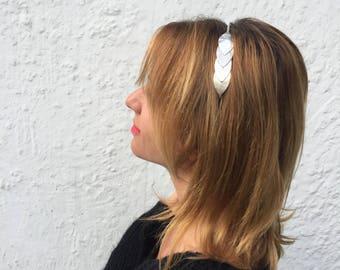 Head leather headband hair band headband