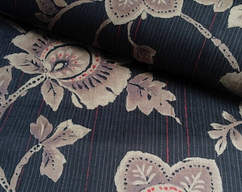 Japanese traditional motif, black background, cotton 110 x 50 (182)